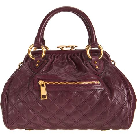Marc Quilted Fabric Stam Bag by Marc Mini Quilted Stam Bag In Purple Lyst