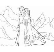 Dibujos Elsa Y Ana Frozen Para Colorear