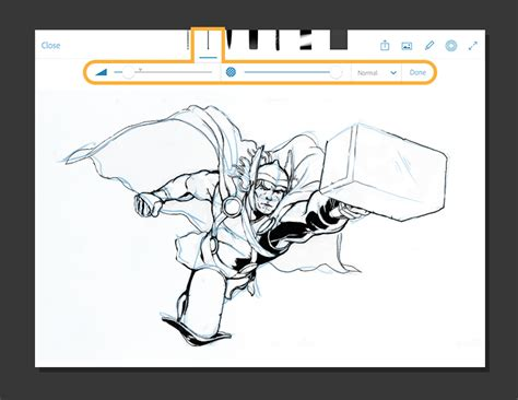 coloring book app tutorial from sketch to marvel comic book adobe photoshop mobile