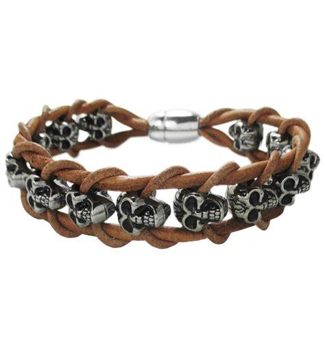 pulseras de cordon de cuero actual pulsera para hombre fabricada con cordon cuero y