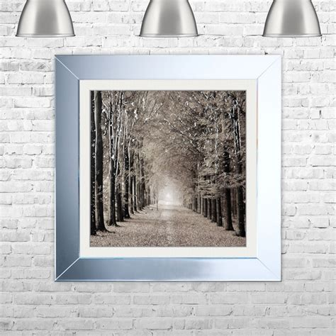 Shh Interiors by Shh Interiors Woodland Path Framed Liquid Artwork And