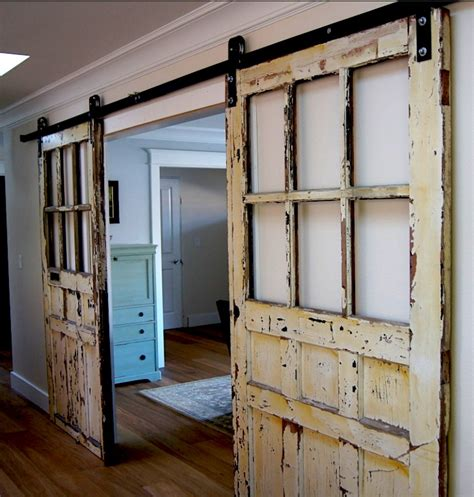 Sliding Barn Doors With Windows 20 Diy Barn Door Tutorials