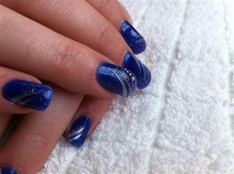 Deco Ongle Gel Bleu deco ongle gel deco bleu ongles lyon estheticienne a