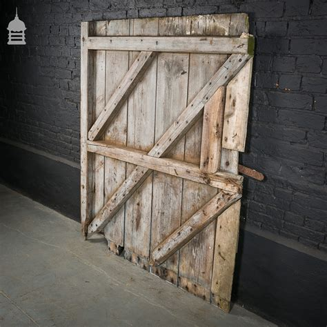 Pine Barn Door Large Ledged And Braced Pine Barn Door Ebay