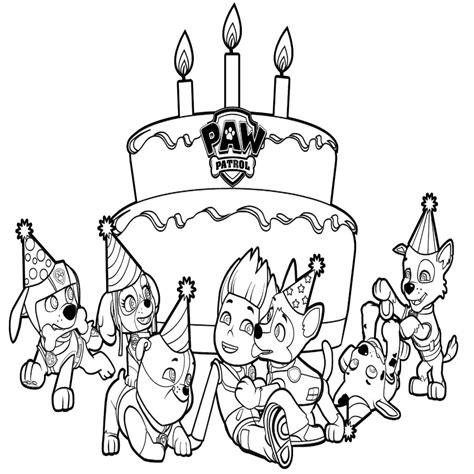imagenes de cumpleaños para karol dibujos para colorear patrulla canina para imprimir