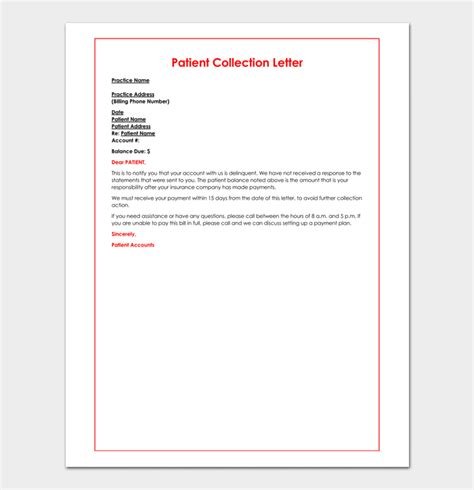 debt collection letter templates free collection letter template notice free debt letters