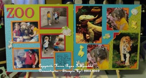 Creating Hybrid Scrapbook Layouts The Mad Cropper 4 by Day At The Zoo Scrapbook Layout By Ktweedy At