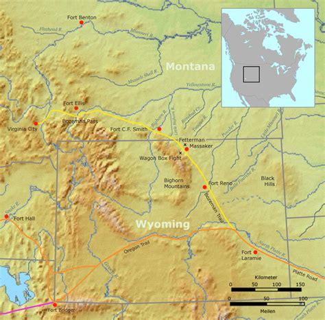 bozeman trail map bozeman trail