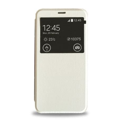 Meizu M2 Note Leather meizu m2 note single view window filp leather white