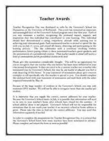 Teacher Of The Year Nomination Letter: Letter Of Support For Nomination   Professional Resume Builder Nyc,