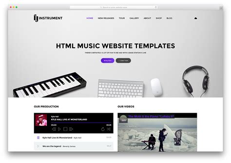html5 player template 21 best responsive html5 website templates 2018