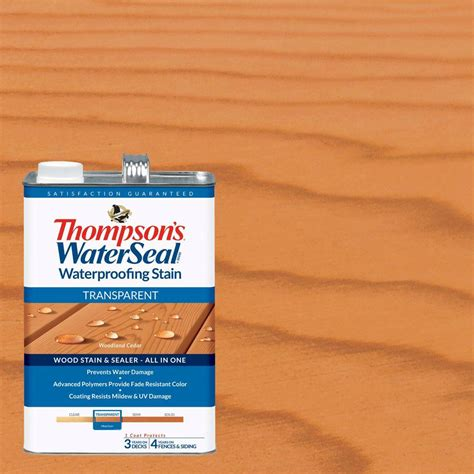 thompson water seal stain colors thompson s waterseal 1 gal woodland cedar transparent