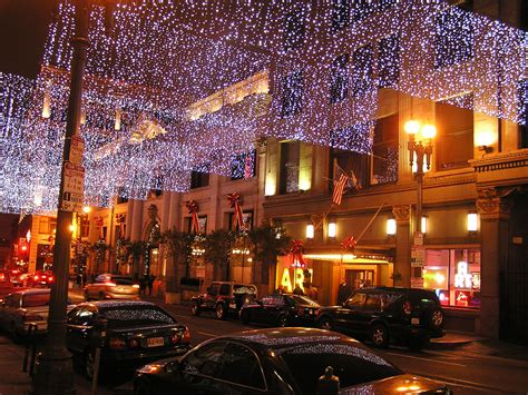 fourth street christmas lights berkeley the lights along 4th in downtown los angele flickr