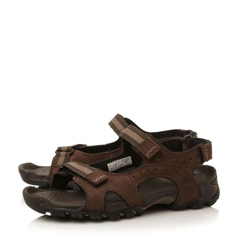 sandals for timberland velcro casual sandals in brown for lyst