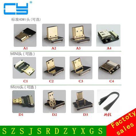 Dompet Rajut Mini 6 5 Cm 1 fpv micro hdmi mini hdmi 90 degree adapter 5cm 100cm fpc ribbon flat hdmi cable pitch 20pin for