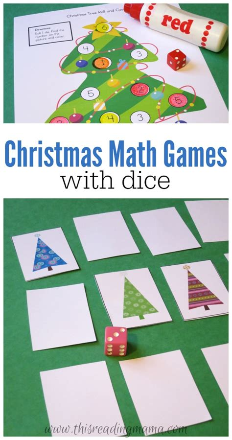 printable kindergarten dice games christmas math games with dice free