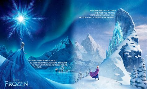 frozen french poster elsa and anna photo 35932156 fanpop combined french quot frozen quot posters with french text removed