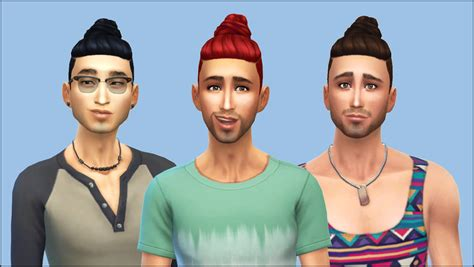 man male bun sims 3 my sims 4 blog gtw shaved bun conversion for males by