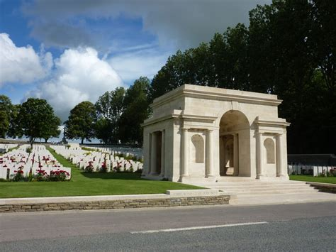 serre no 2 cemetery entrance to serre road cemetery no 1 somme battlefield