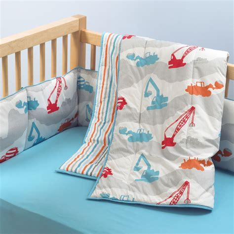 Construction Crib Bedding Set Construction Crib Bedding Tktb