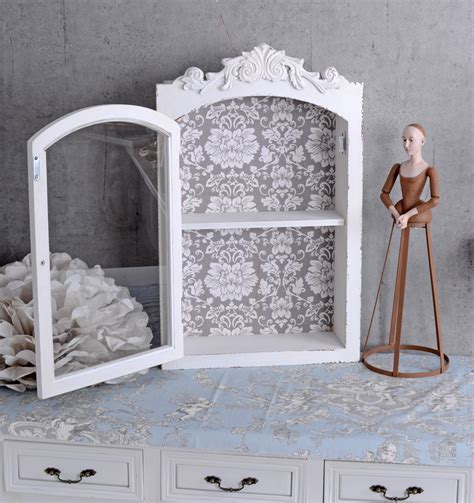 Wandschrank Shabby Chic by Hanging Display Cabinet Shabby Chic Wall Cabinet Antique