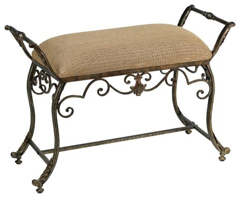 iron bedroom bench iron suzanna iron swirl bench traditional bedroom