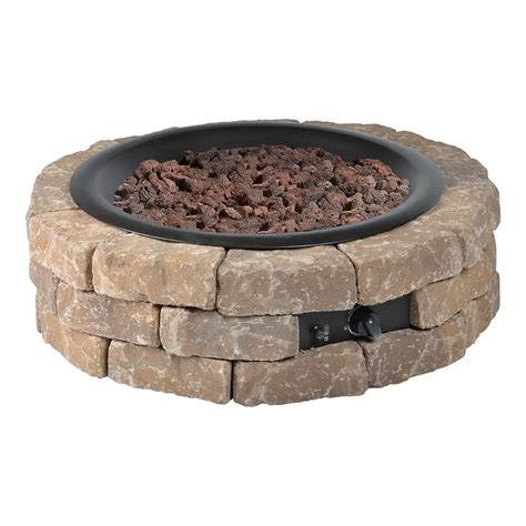 diy round gas fire pit kit bond mfg heating