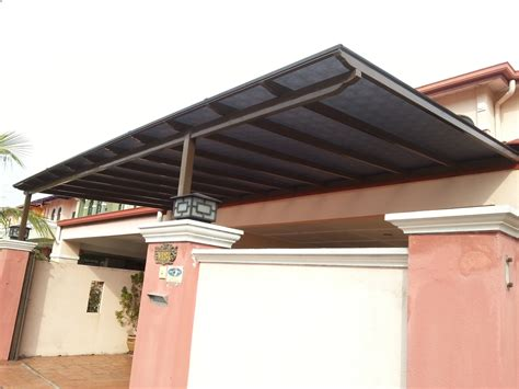 sheet metal awning mild steel awning with 3mm solid polycarbonate sheet