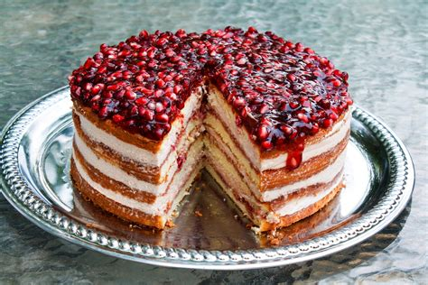 pomegranate mousse cake
