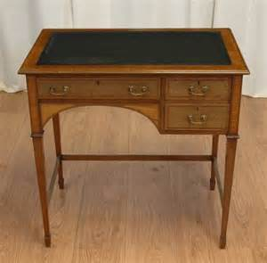 Small Antique Writing Desk Small Antique Inlaid Mahogany Writing Desk C 1900 United Kingdom From Driscolls Antiques Ltd