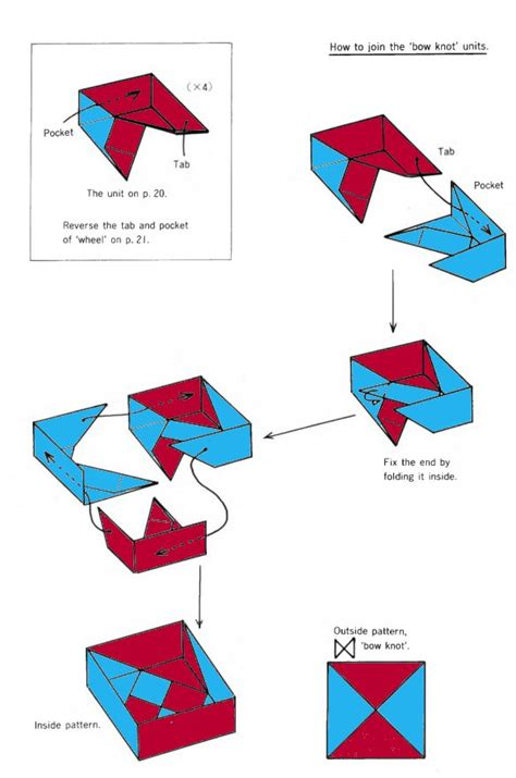 Origami Box Diagram - square box of origami
