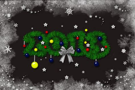 create a christmas tree photoshop text effect photoshop