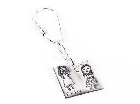 Twist Lock Key Ring - twist lock key ring for fingerprint or imprint pendants