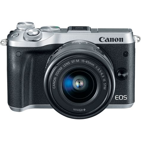Best Seller Canon Eos M6 Canon M6 Kit 15 45 Is Stm Paket 32gb Garans canon m6 eos 24 2mp mirrorless digital w ef m 15 45mm is stm lens silver cad 1 065 62