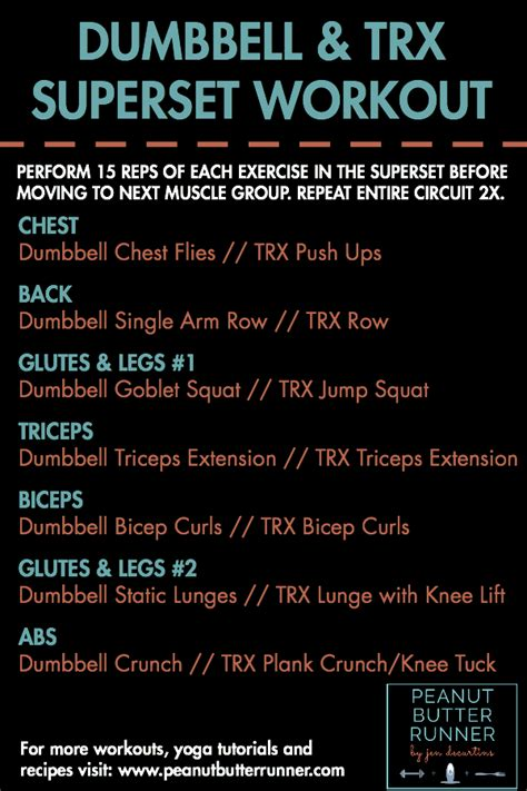 best db total workout dumbbell and trx superset workout