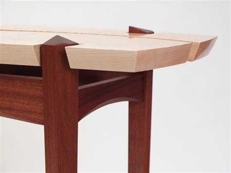 Handmade Console Tables - handmade sapele and quilted maple table by dogwood