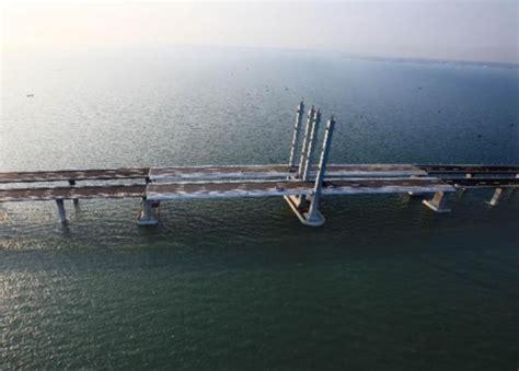 qingdao bridge qingdao jiaozhou bay bridge comes on stream people s
