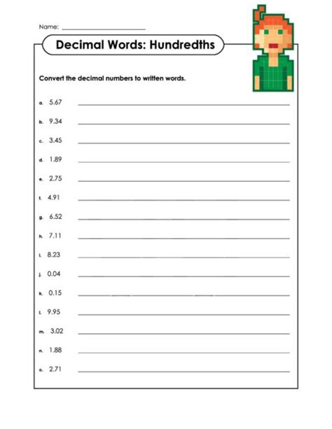 reading fractions worksheet reading and writing decimal numbers as fractions worksheet 1000 ideas about comparing decimals