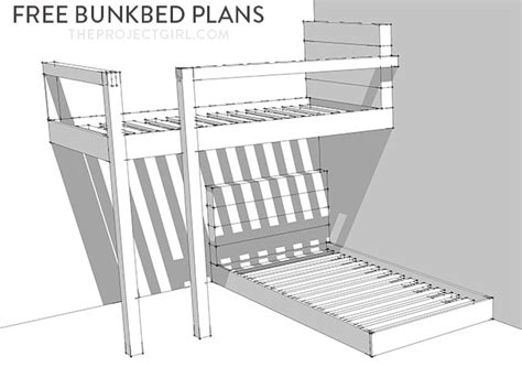 free bunk bed blueprints free bunkbed plans how to design and build custom bunk