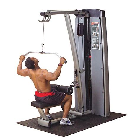 high pulley lat pull exercise machine home setup and