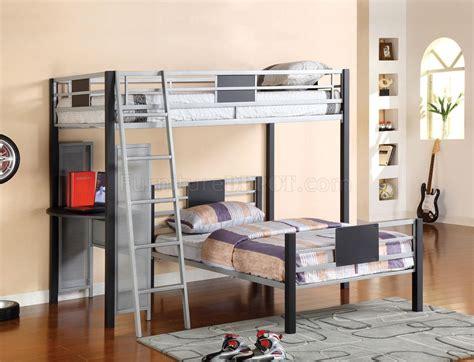 side by side bunk beds cm bk1030 summerville bunk bed w side desk