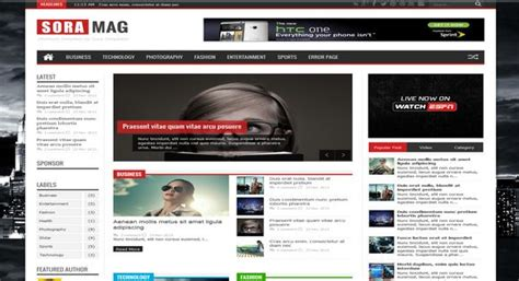 science templates for blogger sora mag responsive blogger template 2014 download
