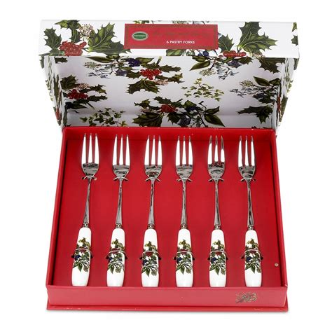 Portmeirion Botanic Garden Pastry Forks Set Of 6 The The Set Of 6 Pastry Forks By Portmeirion