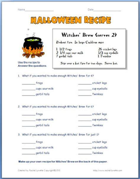 printable homebrew recipes halloween fraction worksheets teacher worksheetsfraction