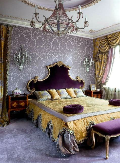 purple and gold bedroom romantic bedroom in amethyst purple and gold color