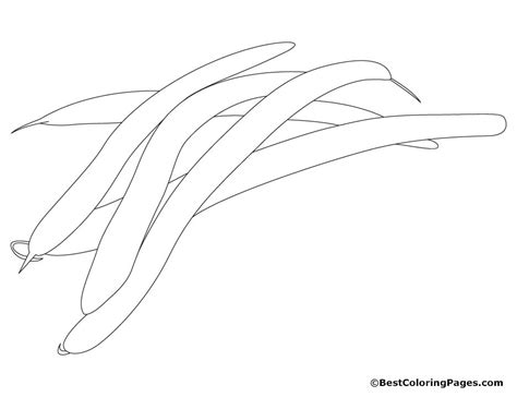 free coloring pages of bean plant
