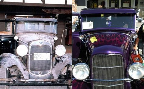 a before and after picture set regarding auto restoration