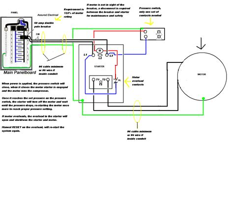 air compressor wiring diagram wiring diagram