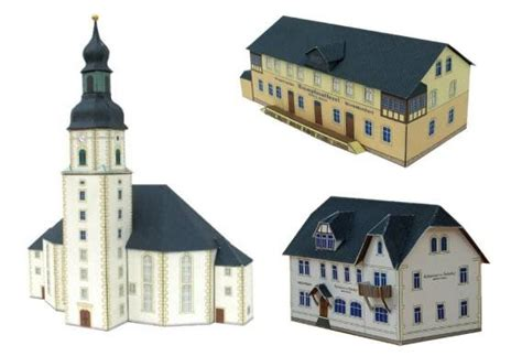 Papercraft Architecture - papercraft german buildings jpg