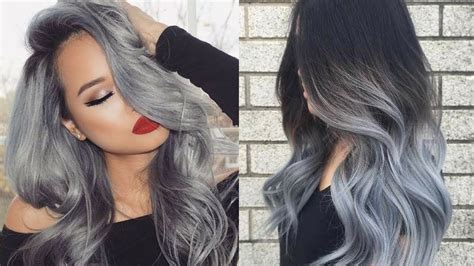 popular hair color trend gray hair hanging